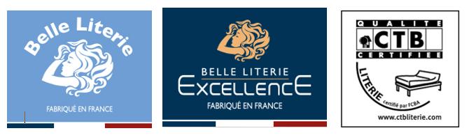 labels Belle literie, belle literie Excellence et certification CTB chez maliterie