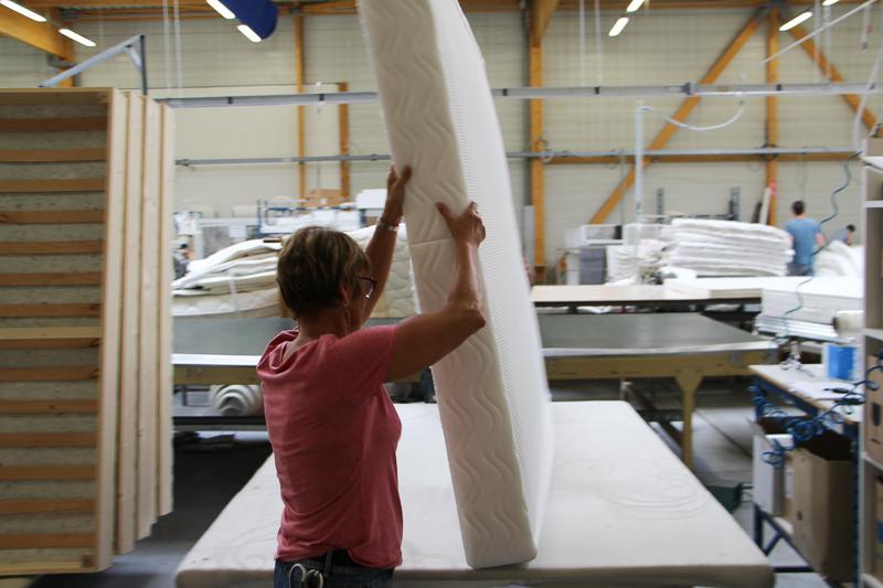 Fabrication matelas usine Le Mans