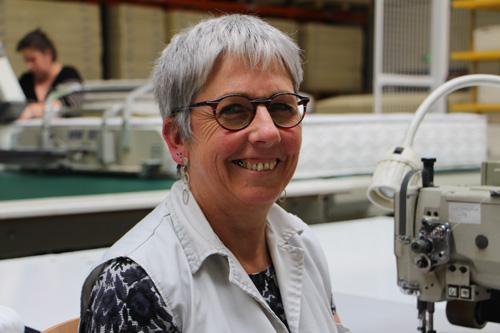 Portrait Joelle ouvrière chez Maliterie