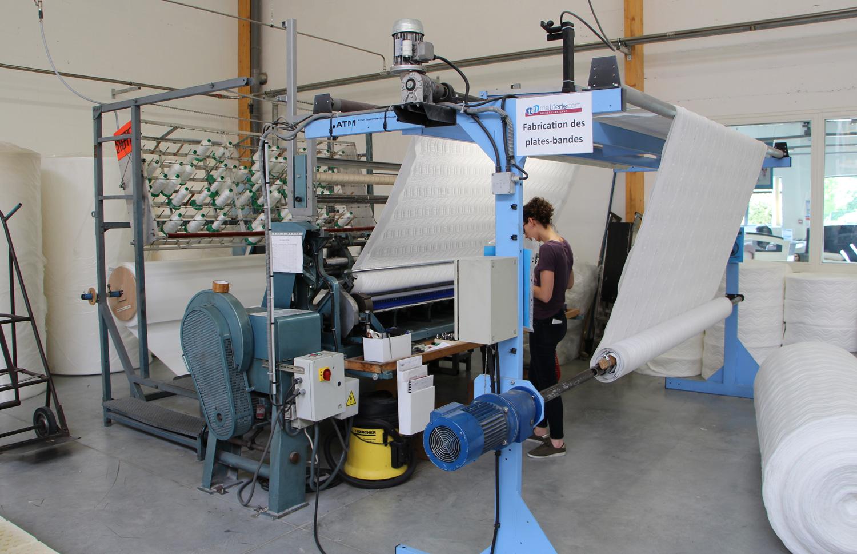 fabrication des plates-bandes matelas