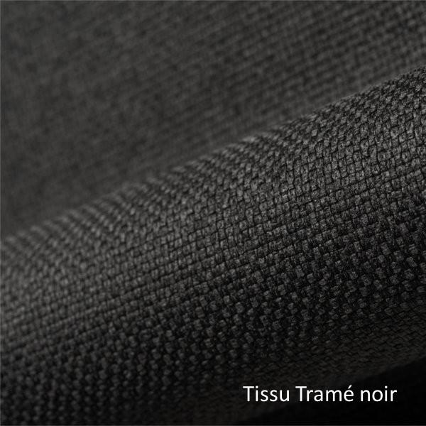 tissu tramé noir