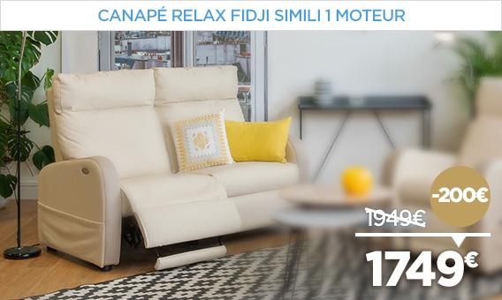 -200€ sur nos canapés relaxation comme le FIDJI