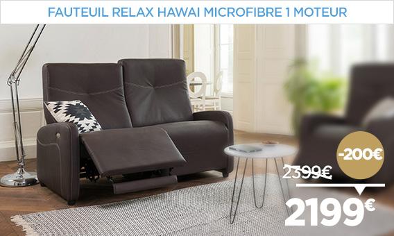 -200€ sur le canapé relax HAWAI