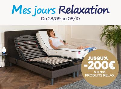 Opération 10 jours relax sur la literie électrique avec jusqu'à -200€ sur nos produits relaxation