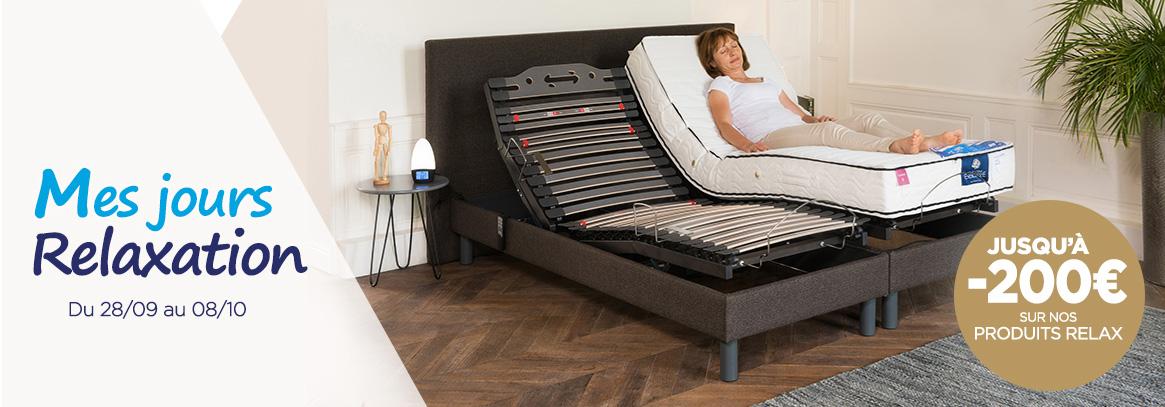 promotion les 10 jours relax avec des remises sur les lits lectriques et sur tous nos fauteuils. Black Bedroom Furniture Sets. Home Design Ideas