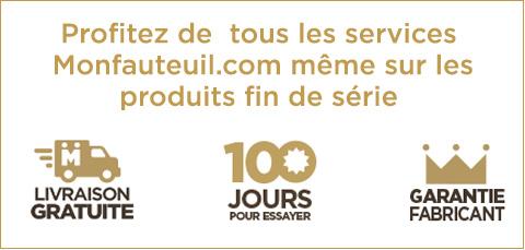 Profitez de tous les services Monfauteuil.com même sur les produits fin de série
