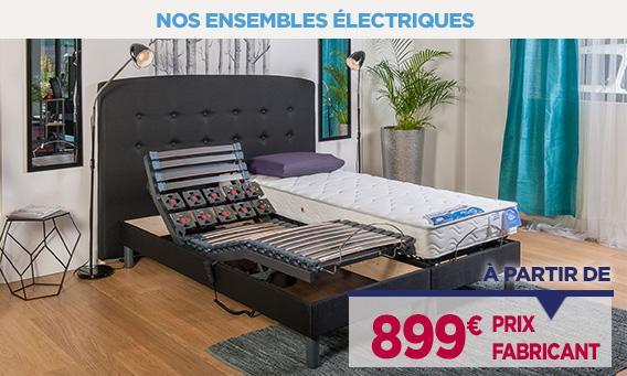 Lit électrique à prix fabricant vendus en direct de l'usine à partir de 899€