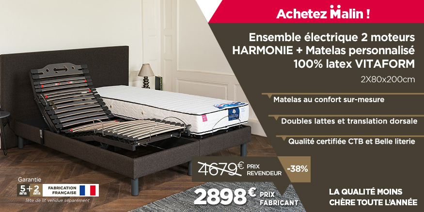 promotions literie lectrique sommier lectrique et matelas pas chers lit. Black Bedroom Furniture Sets. Home Design Ideas