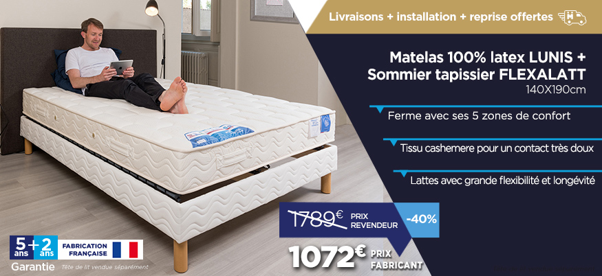 literie matelas et sommiers prix fabricant en promotion pour la rentr e promotions. Black Bedroom Furniture Sets. Home Design Ideas