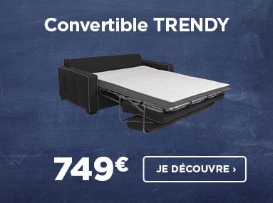 Nouveauté de la rentrée avec le convertible TRENDY à 749€