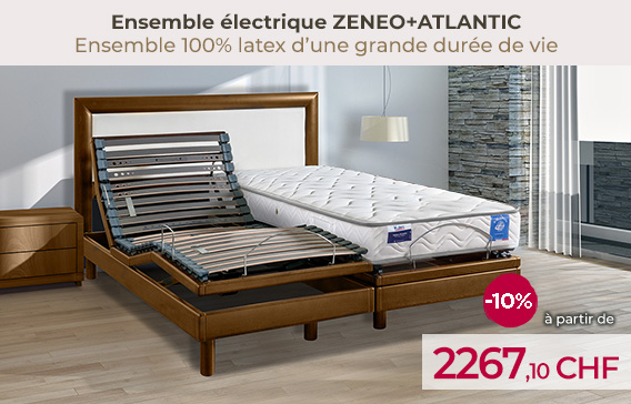 Soldes lit électrique ZENEO avec matelas latex ATLANTIC encore moins cher !
