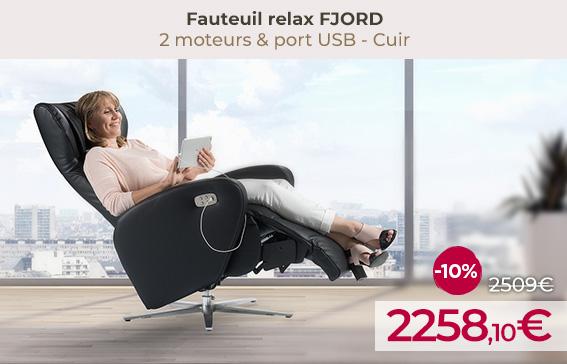 Soldes fauteuil relax design FJORDencore moins chers !
