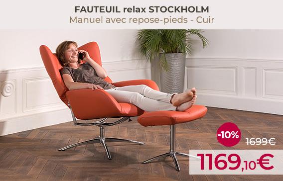 Soldes Fauteuils relax design STOCKHOLM encore moins chers !