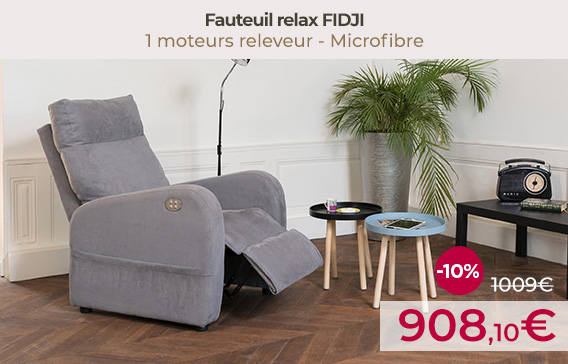 Soldes Fauteuils relax releveur FIDJI encore moins chers !